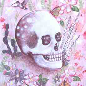 Dear Apache Tear was the result of a message from a dream and a gemstone; inspiring the image of this gentle desert, and wise crystal skull.