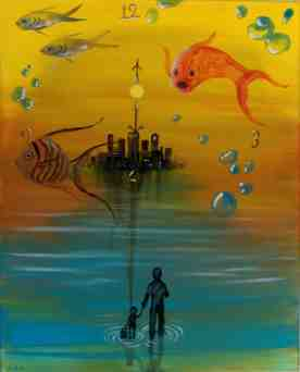 ''Made It'' was inspired by the idea of random acts of kindness. It was painted in acrylic on stretched canvas.