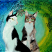 ''So Sweet'' was a portrait request for two beautiful cats. It is an acrylic piece.